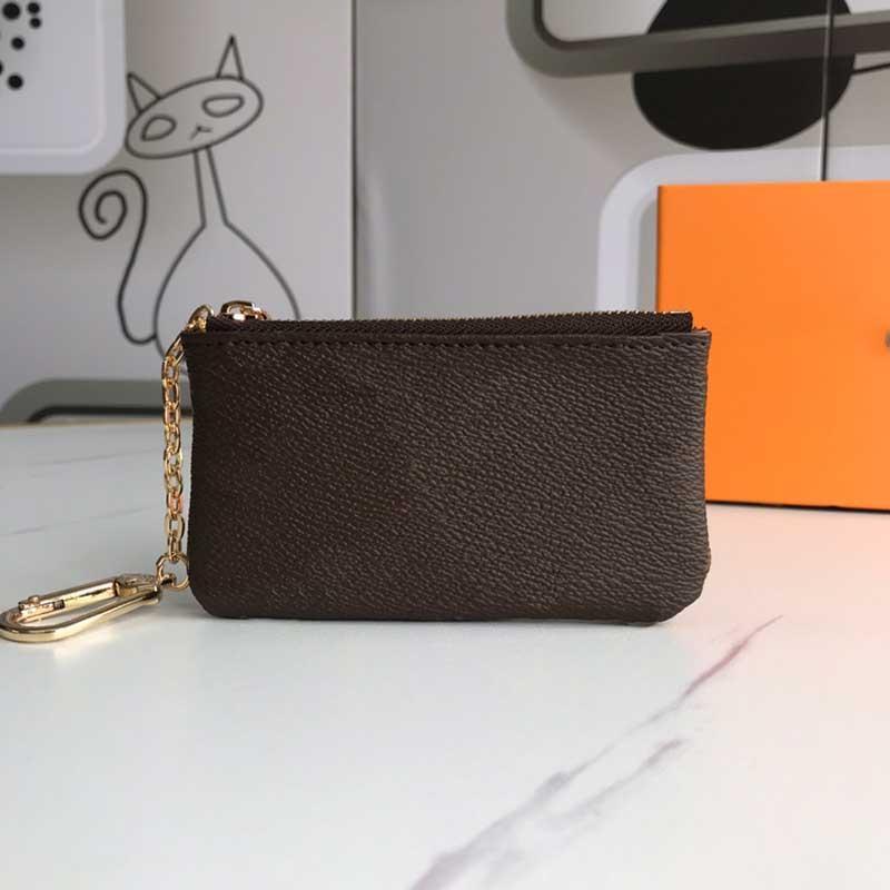 M62650 Bolsa de monedas Moda Key Men Ladies Anillo Crédito Titular de Lujo Diseñador High Key Purse Mini Wallet Tarjeta Venta al por mayor Bolso Qxwuc