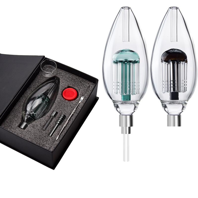 Paladin886 NC054 Glas Bubbler Delux Set 510 Quarz Nagel Keramik Spitze Wasser Glasrohr DAB RIG GLAS BONG Rauchende Rohre