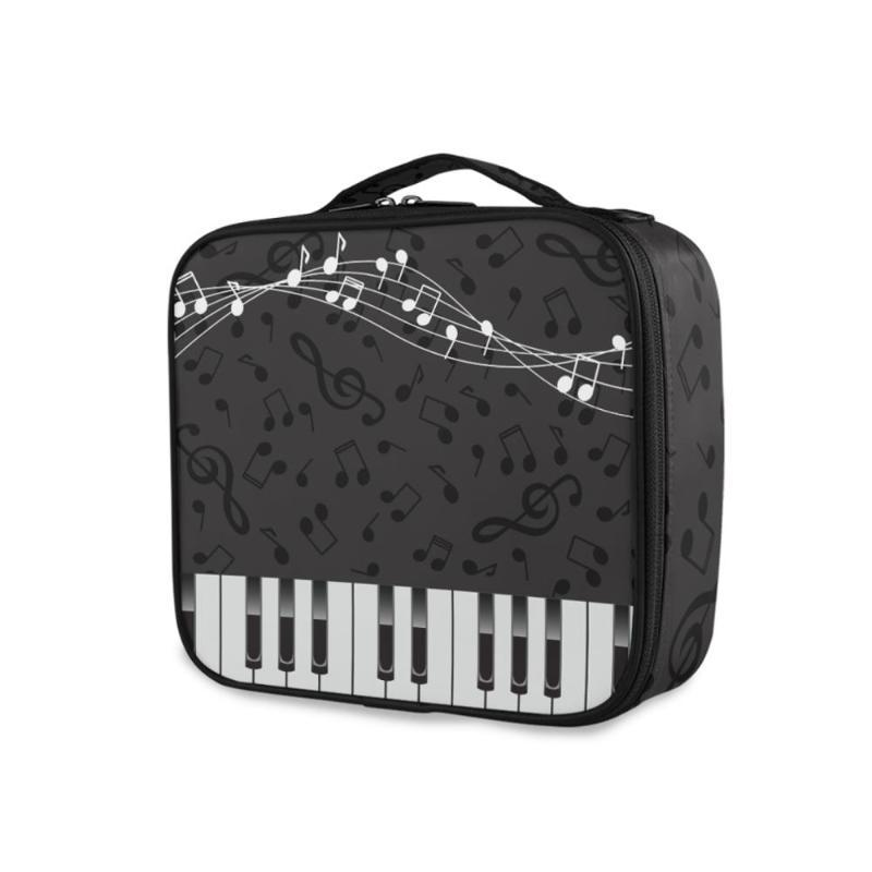 Wash Hacer mujeres Essential Cosmetic Portable Piano Keys Notes Travel Beauty Case Withingry Organizer Kits Bag Bag Bag Pattern Up Eldue