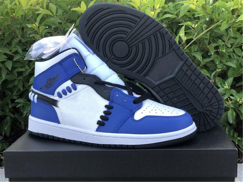 1 Mid SE Game Royal Seasherhood Designer Shoes Black White Blue Chaussures 1s Trainers кроссовки