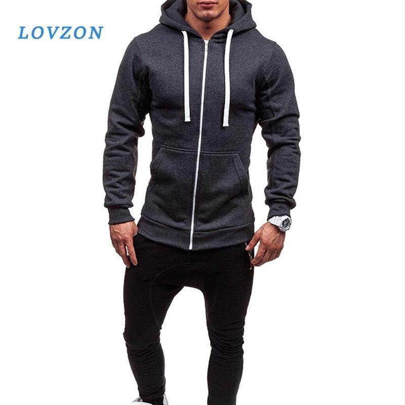 Sweats à capuche Mens Hommes Sweat Sweat-shirt Slim Vestes Slim Vestes Hip Hop Hoodies Sportswear TrackSuit Vêtements Cadre Casual