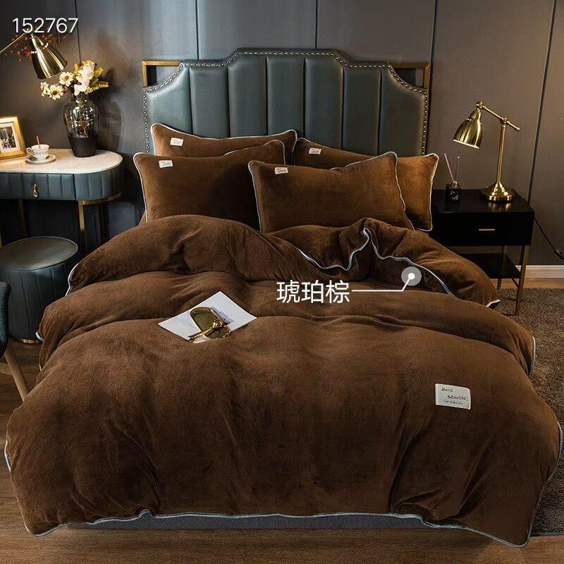 Высококачественные постельные принадлежности для постельного белья набор молока бархата прекрасный теплый фланелевый подоюзные наборы наборы наволочки наволочки.