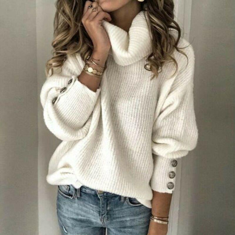 Maglioni a maniche lunghe a maniche lunghe maglione a maniche lunghe in autunno invernali a maglia