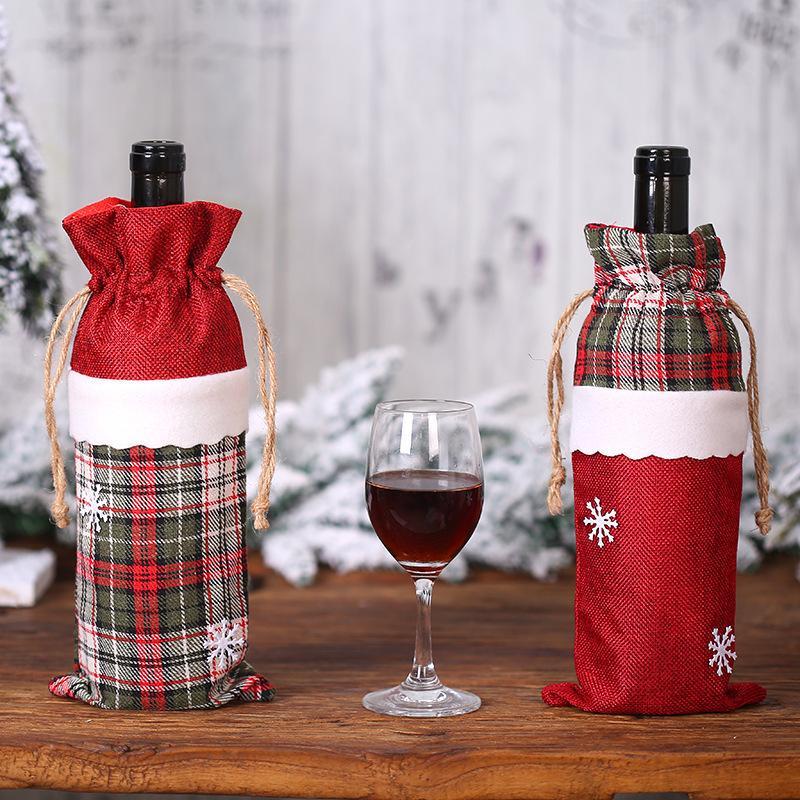 Tampa Wine Champagne Bottle Bag manta para o partido Home Decor Decoração Natal Suprimentos GWD1808