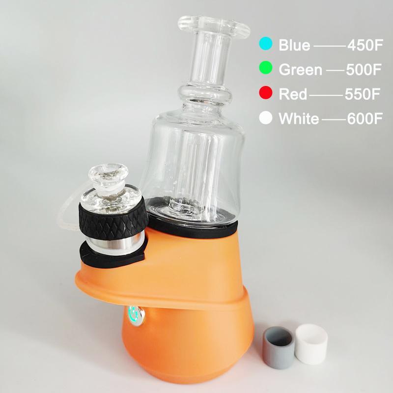 SOC Balmumu Buharlaştırıcı Başlangıç Kitleri Ayrılabilir Dab Rigs Şarje 2600 mAh Baz Cam Bonglar Su Boruları Vape Konsantre Dabber Atomizer
