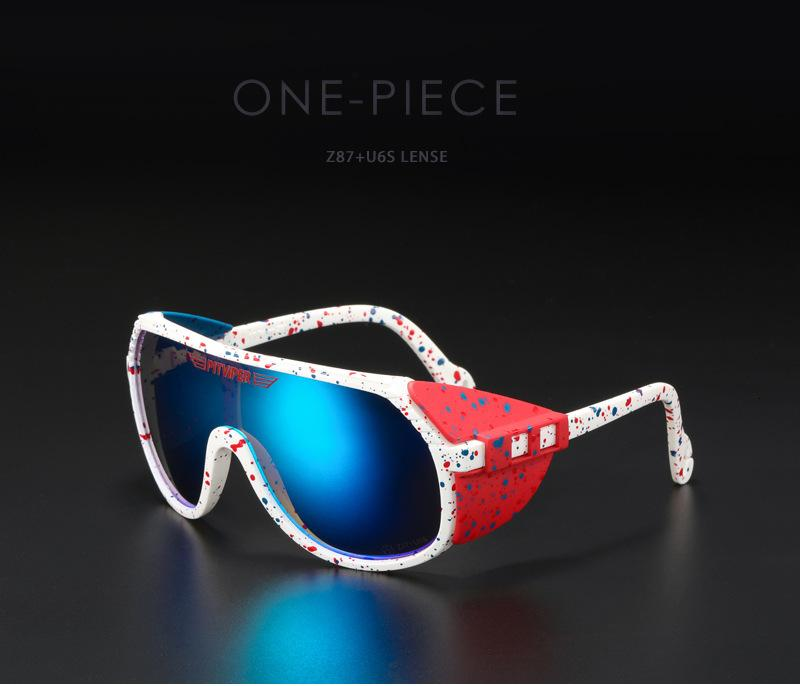 Removable Sunglasses UV400 One Pit Men Piece Sports Designer Lens Sun Glasses Unisex Equipped With ANSI Z87+ Viper Shield Grand-Prix Velmb