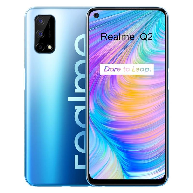 "Original Realme Q2 5G Mobile Phone 6GB RAM 128GB ROM MTK 800U Octa Core Android 6.5"" Full Screen 48MP 5000mAh Face ID Fingerprint Cell Phone"
