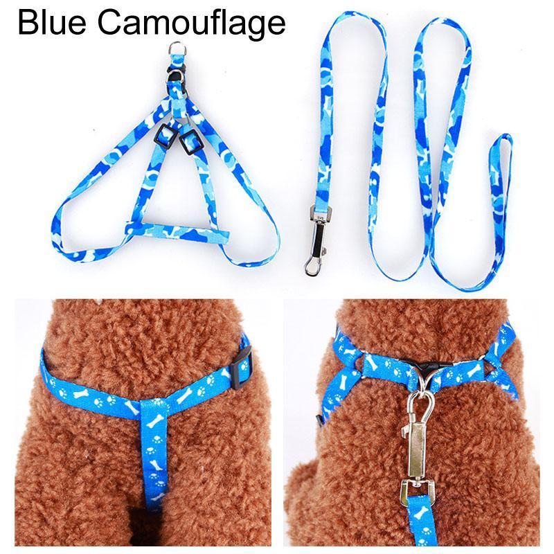 قابل للتعديل القط الكلب طوق المقود الكلب الحيوانات الأليفة تسخير الصدر عودة حزام الجر حبل مستلزمات الحيوانات الأليفة جرو المشي المطبوعة المقاود DDF4737