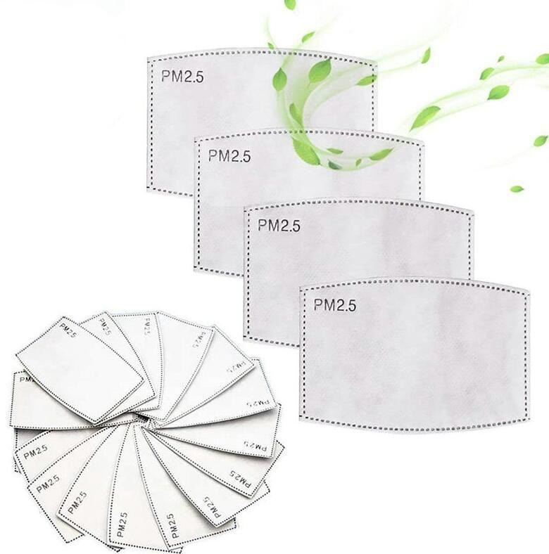 5 camadas ativadas filtro de carbono pm2.5 anti dust nabo máscaras de boca filtros substituíveis para ativar a máscara de carbono use engrenagem protetora W74