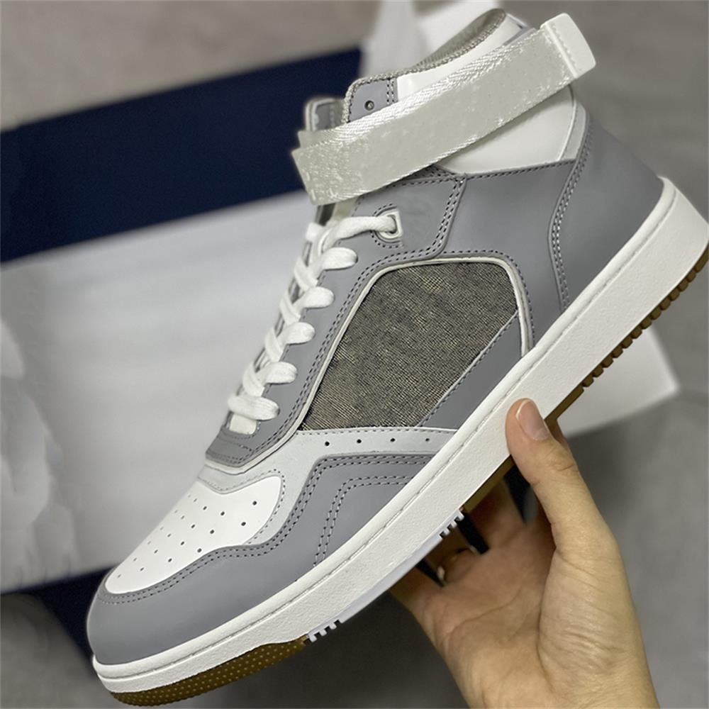 Uomini B27 Sneakers oblique Sneakers Delle Donne Piattaforma Fornitori Scarpe Casual in pelle di vitello Scarpe casual in pizzo in alto e scarpe runner basse con scatola 265