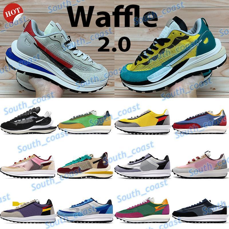 2021 LD Waffle Xsacai Mavi Yeşil Çok Erkek Sneakers Üçlü Siyah Beyaz Serin Gri Üniversitesi Kırmızı Sarı Mor Çok Erkek Kadın Koşu Ayakkabıları