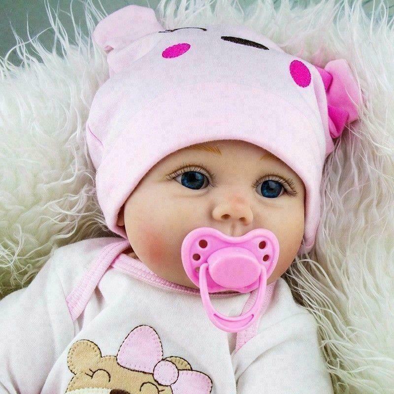 Npk reborn bebê boneca realista bebê bonecas 22 '' vinil silicone recém-nascido linda garota