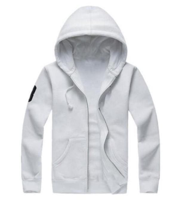 새로운 뜨거운 판매 남자 자켓 큰 말 폴로 후드와 스웨터 가을 겨울 캐주얼 후드 스포츠 재킷 남자의 후드 남자 재킷