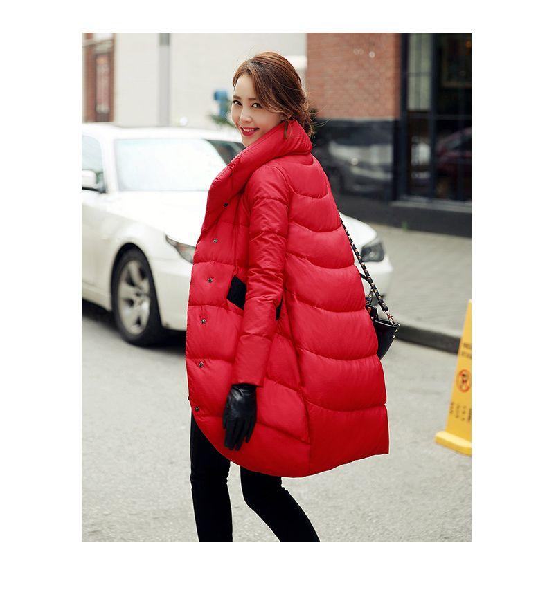 Inverno solto grosso preto azul marinho azul baiacu para baixo jaqueta para mulheres e longas seções casacos das mulheres 201023