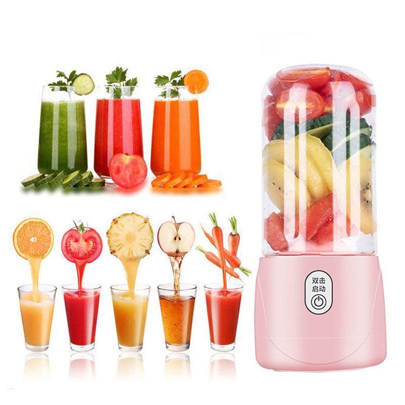 400 ml 4/6 Cuchillas USB Fruta eléctrica Juicer recargable Smoothie Maker Blenders Máquina para el hogar del hogar Jugo de sandía de sandía
