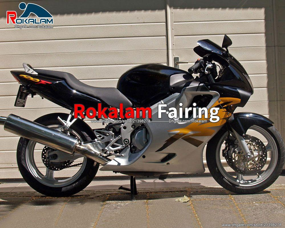 혼다 CBR600 F4 CBR 600 600F CBRF4 CBR600F4 SLIVER BODSWORK FAIRING 99 00 1999 2000 (사출 성형)