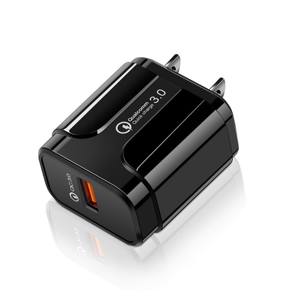 QC3.0 포트 USB 충전기 18W 빠른 충전 벽 충전기 ABS + PC 휴대 전화와 호환 5V 3A / 9V 2A / 12V 1.6A