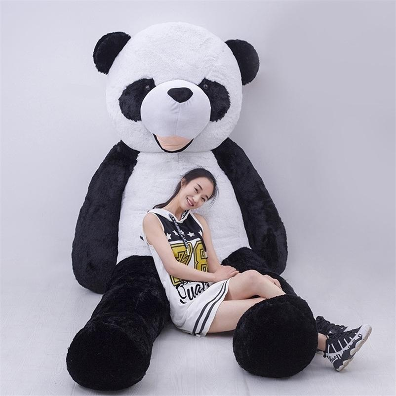 Bonito Unfilled Gigante Panda Urso Pele 100cm Alta Qualidade DIY Macio Chave Animal Shell Boneca De Pelúcia Boneca Para Crianças Presentes De Aniversário 201222