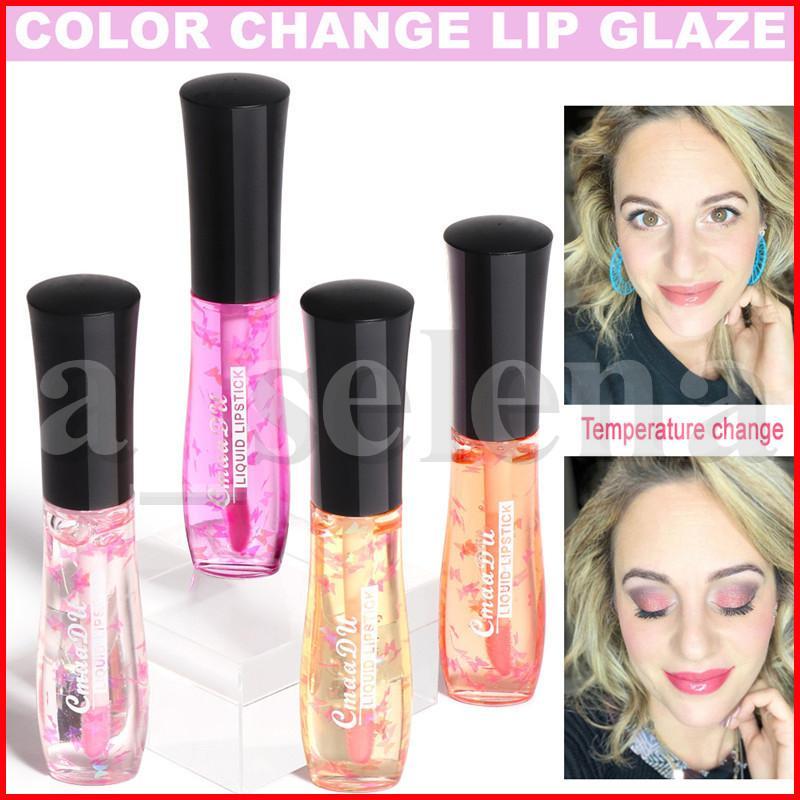 CmaaDU Lip Makeup Moisturizing Lip Gloss Temperature Color Change Lip Glaze Waterproof Long Lasting Tint Liquid Lipstick Natural lipgloss
