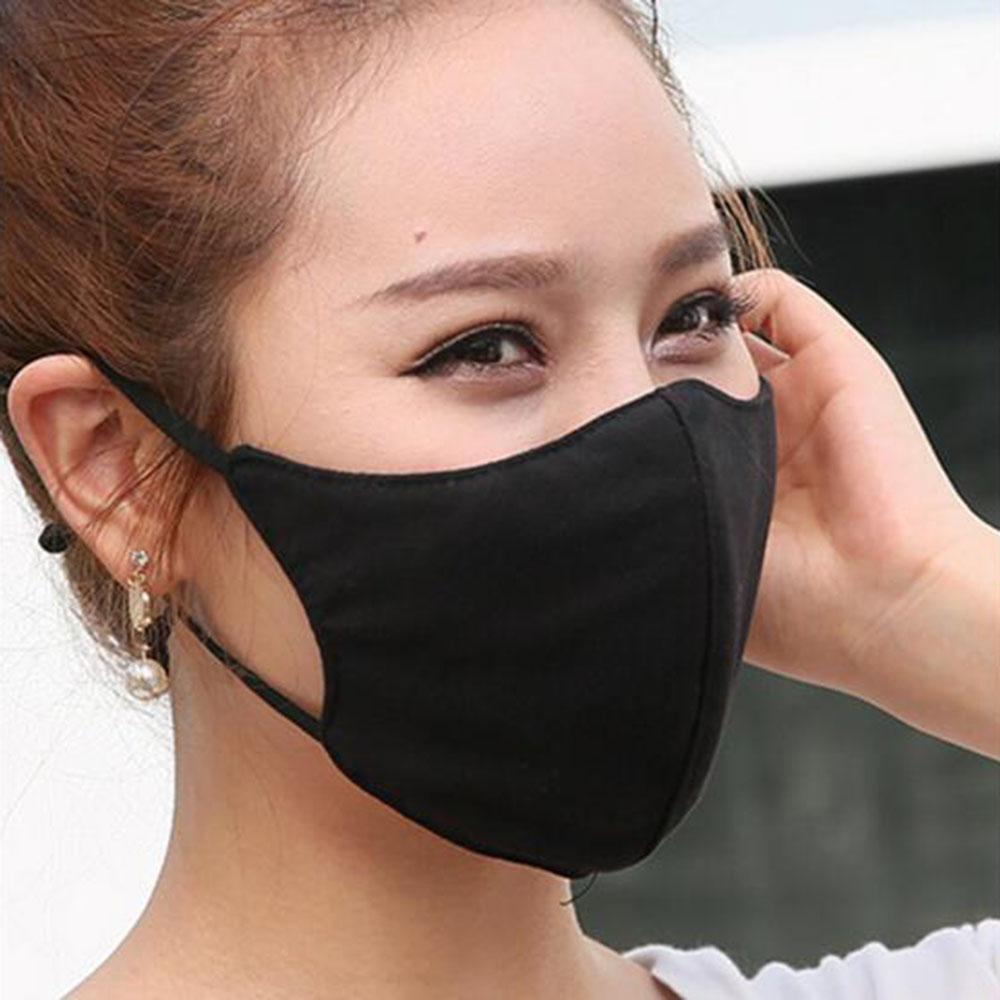 Face Black Cotton Mask Unisex Anti Dust Cotton Mouth Mask for Cycling Camping Travel Mask Anti Cotton Mouth Cover Washable