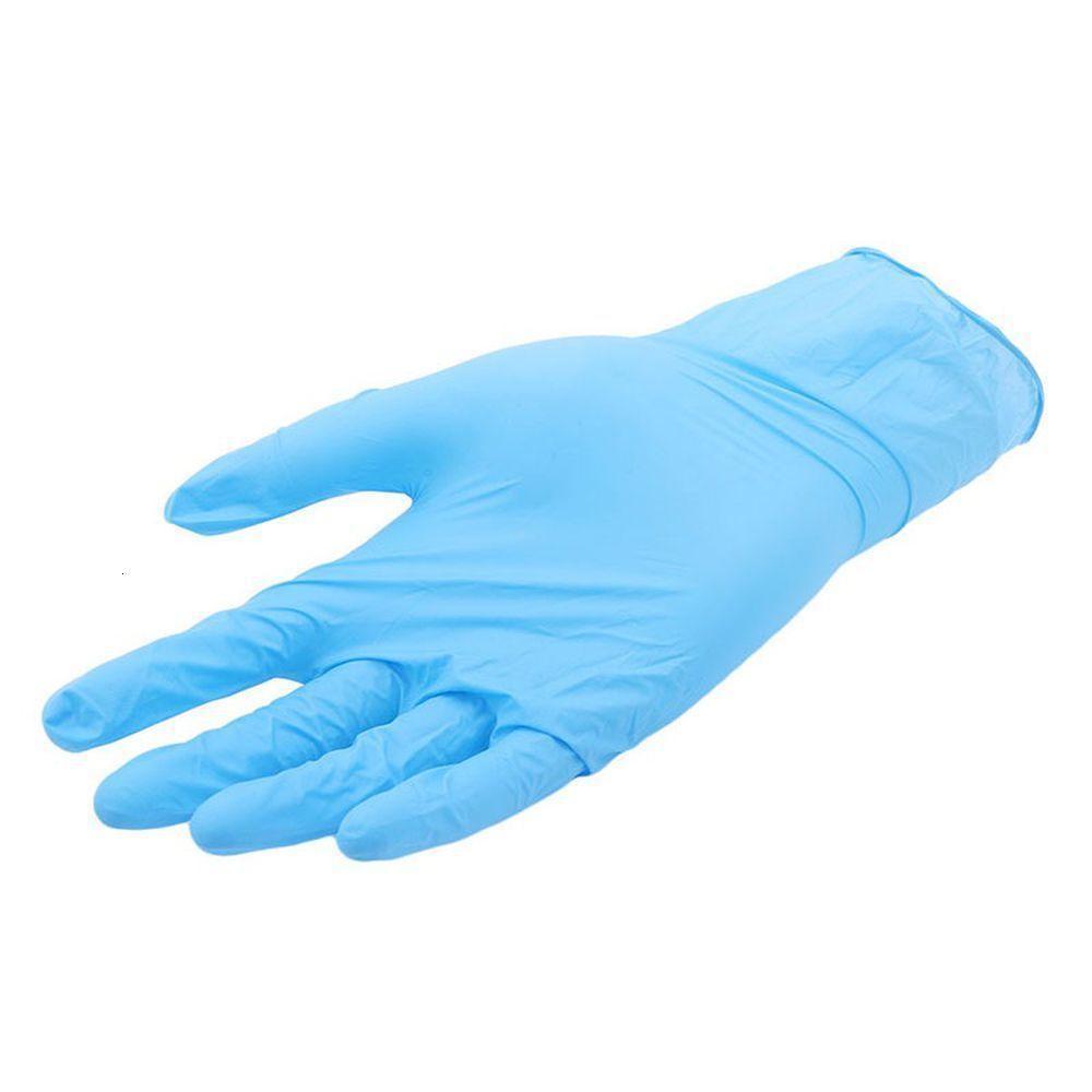 Grau de laboratório Soft 50Pairs / 100 pcs Luvas de alimentos Nitrilo Limpeza de limpeza Home Alimentos descartáveis R 7VRV