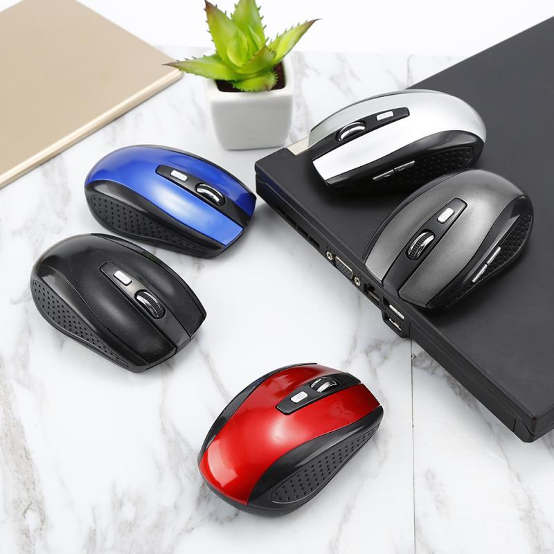 6 keys 2.4GHz Wireless Computer Opto-electronic Battery Mouse Universal 1600DPI Gaming Mice For PC Laptop Computer