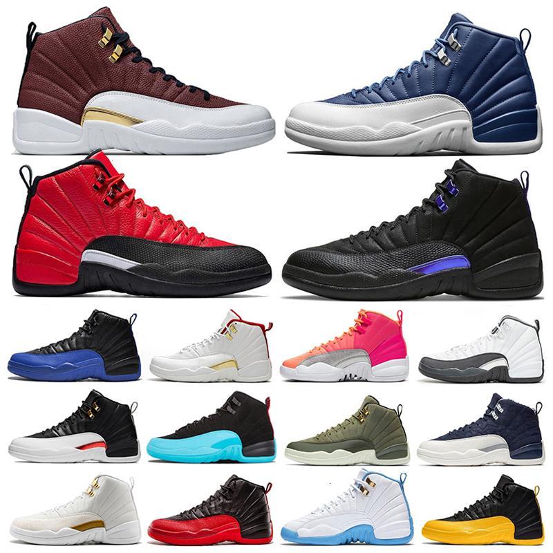 2021 новый 12 12S XII мужчин баскетбол обувь грипп игра Indigo Dark Concount Fiba тренажерный зал красный зимеризованный такси мужские тренажеры на открытом воздухе спортивные кроссовки