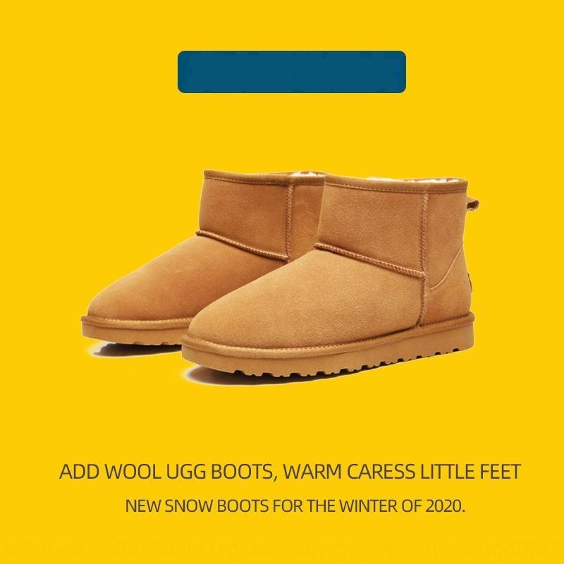 dyfb 2020 neue winter australien echte pelz wolle frauen schnee stiefel cowhide plus samt warme baumwolle kurze rohr männer dick stiefel