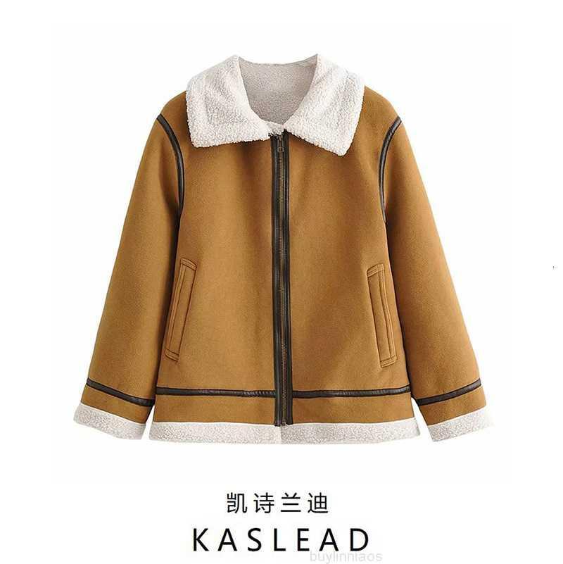 шерсть 2020 осень новая женская мода имитация флита моды утолщенное хлопок пальто 430812