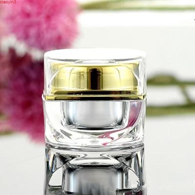 5G 10G восьмиугольная квадратная акриловая банка, золотая и серебряная крем-бутылка пустой косметический контейнер