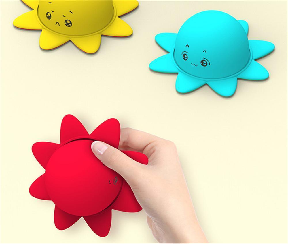 Reversible Flip Kind Puppe Umweltfreundliche doppelseitige Ausdruck Flip Soft Simulation Puppe Silikon Erwachsene Dekompression Spielzeug