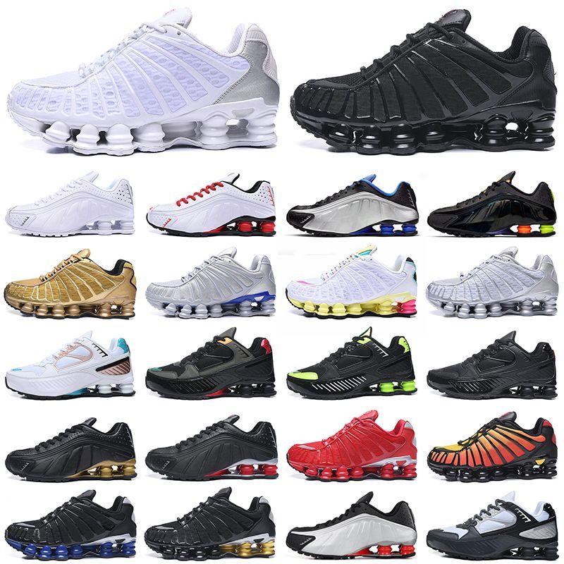 R4 Nueva Shox TL Enigma OG zapatos corrientes de los hombres de las mujeres Chaussures Triple Negro Blanco Rojo Plata deportes al aire libre las zapatillas de deporte