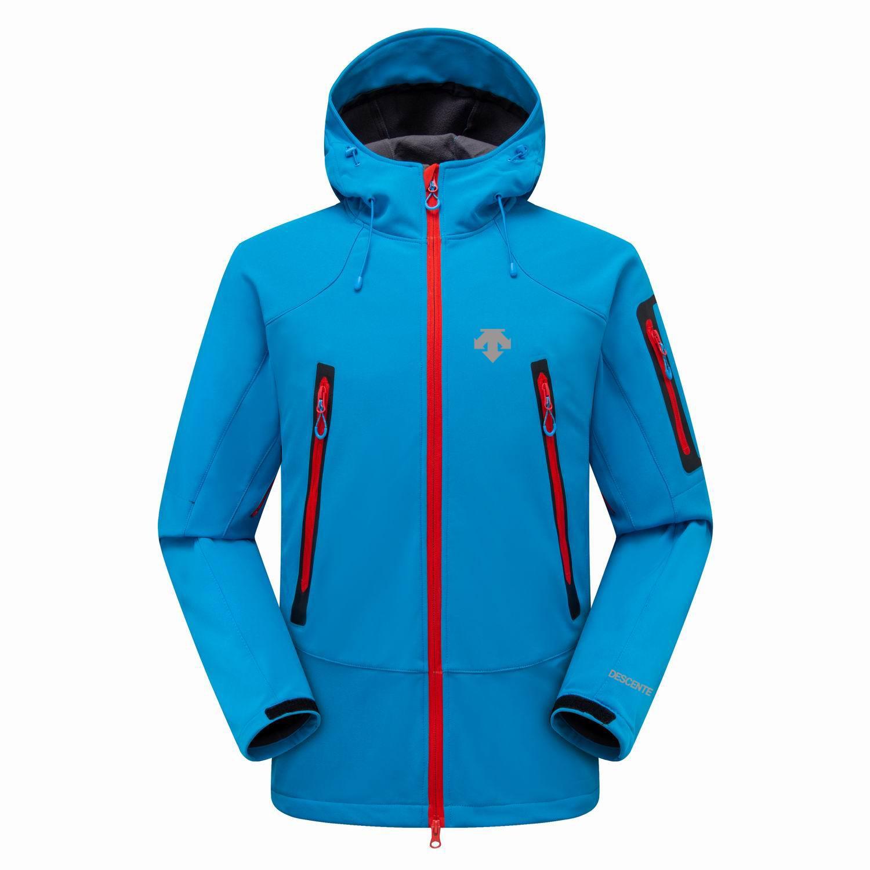 2019 New The North Mens Descent Giacche con cappuccio Felpe Fashion Casual Warm Vento Antivento Viso Sci Cappotti Ambientazione esterna Denali Pile Giacche Blu