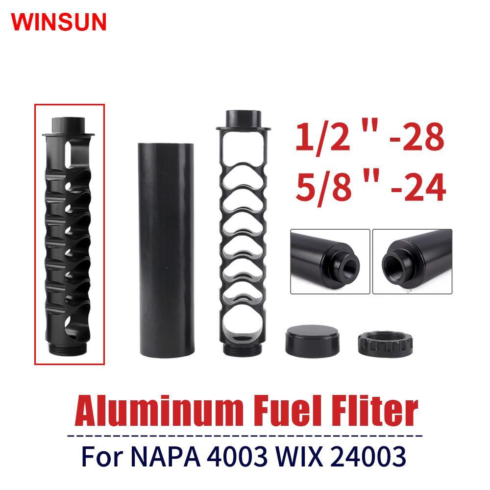 Winsun Fuel Filter 6 بوصة أو 10 بوصة 1/28 أو 5/8-24 من الألومنيوم سيارة المذيبات فخ ل NAPA 4003 WIX 24003 RS-OFI022 فلتر الوقود