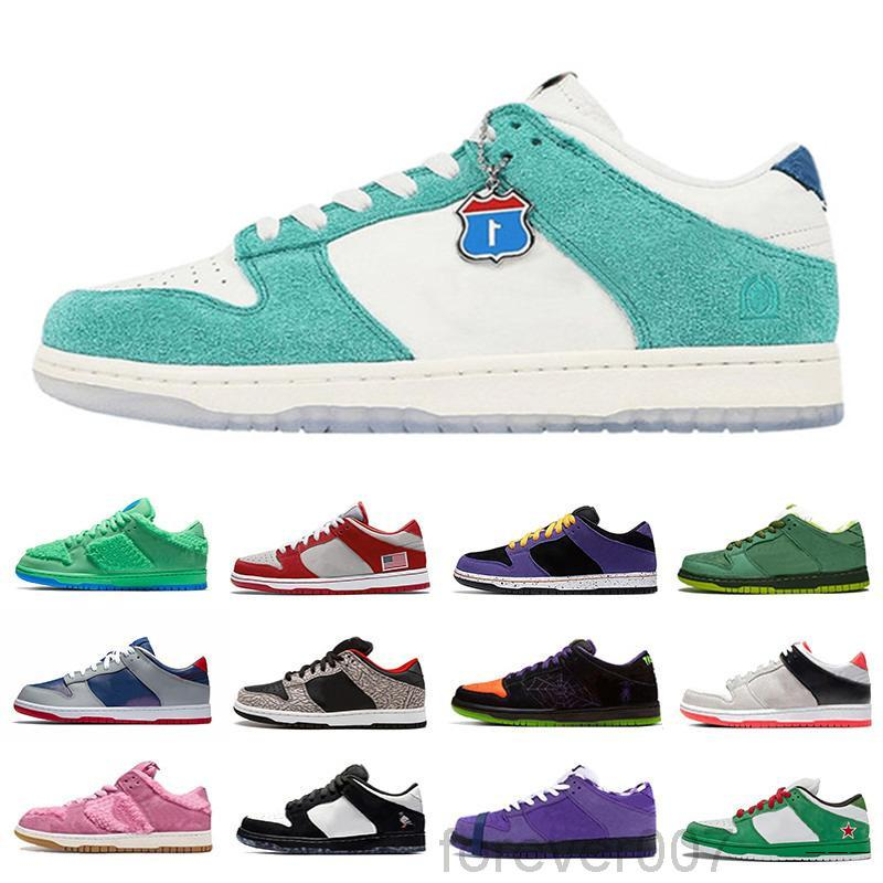 SB Dunk Low Pro Chunky Dunky TAG DUNK Classic Baloncesto Zapatos Hombres Mujeres Chunky Dunky Sombra Amarillo Oso Entrenadores Travis Scotts Universidad Red Pine Green White HKKG