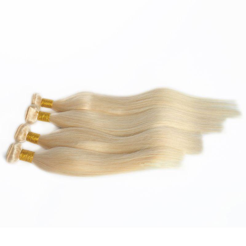 Top-Qualität 100% Menschliches Haar 613 Blonde Farbe Remy Hair Gerade Haar Weft Free DHL