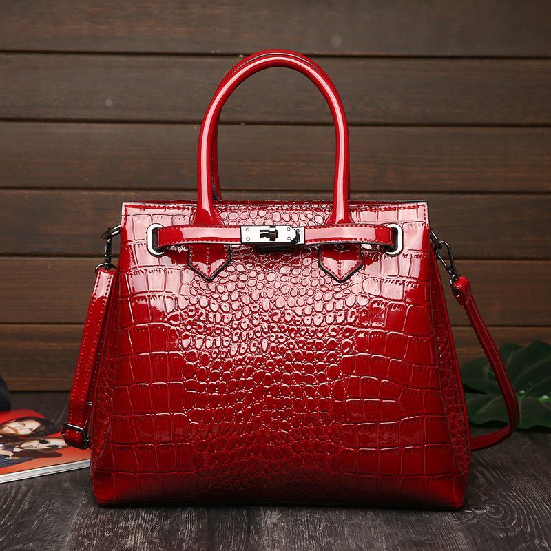Saco padrão grande designer bolsas mulheres jacaré estilo designer locky moda tote sacos senhoras moda akxeg