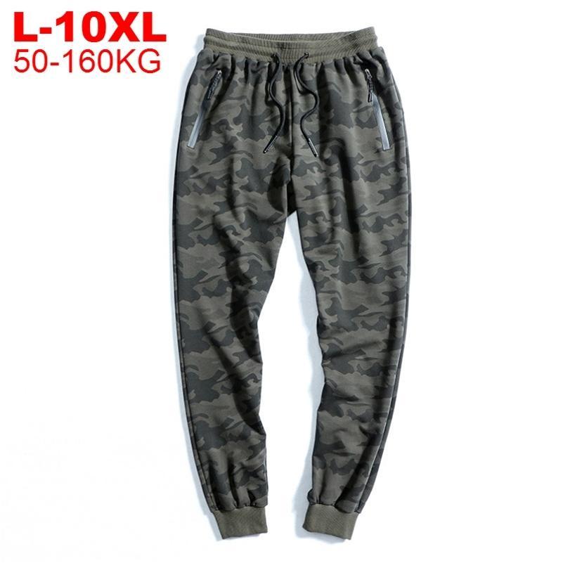 Men's Camouflage Sweatpants Plus Taille Joggers Militar Hommes Pantalons Hip Hop Army Camo Pantalon Coton Sportswear Man Lj201217