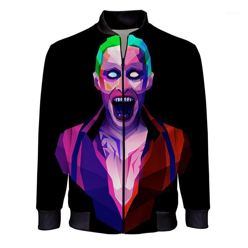 2020 Nuove Giacche di moda Uomo Casual Stand Casual Colla Zipper Bomber Giacca 3D Stampato Streetwear Abbigliamento maschile Abbigliamento alla moda1