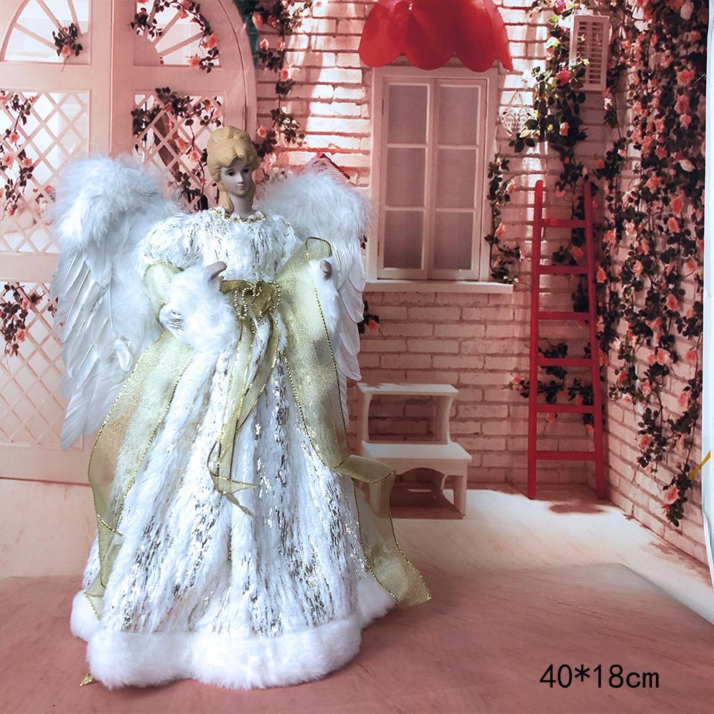 Carino sorridente Angelo Dolls Artigianato regali in piedi Peluche Peluche Casa di Natale Natale Decorazioni Natali Ornamenti Festive Stagione Y1125