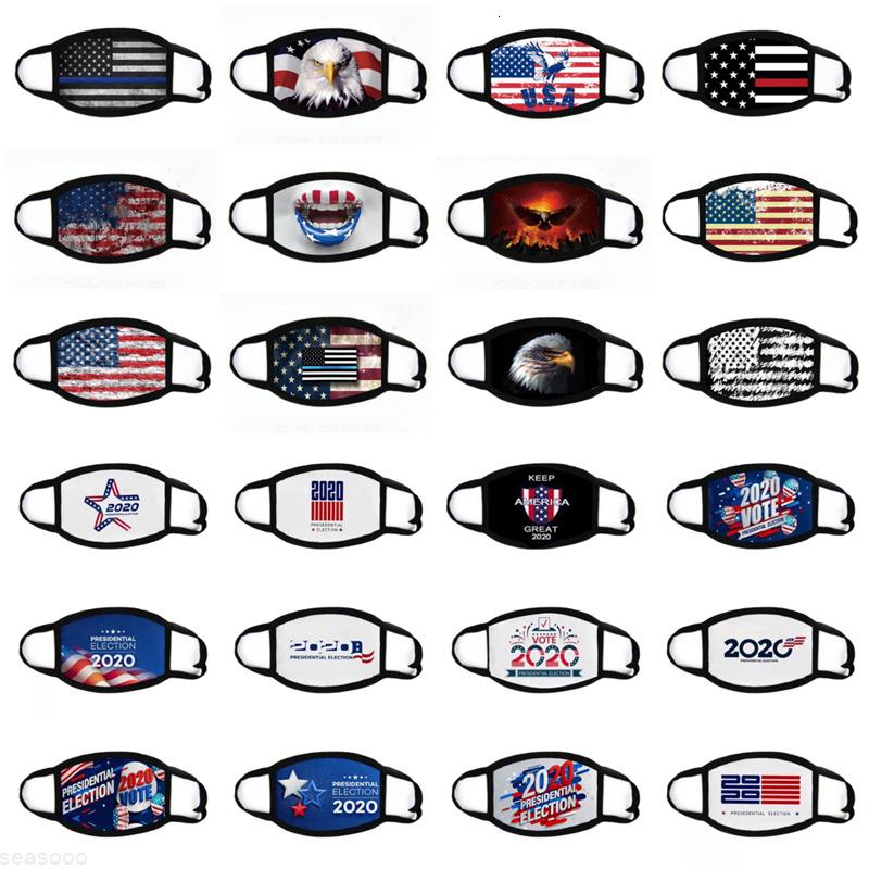 Präsident DHL Wahlschiff! 25styles Masken American National Flag Maske Staubdichte Baumwollmasken Waschbar Radfahren Anti-Nebel Schwarzes Gesicht Mas WFWM