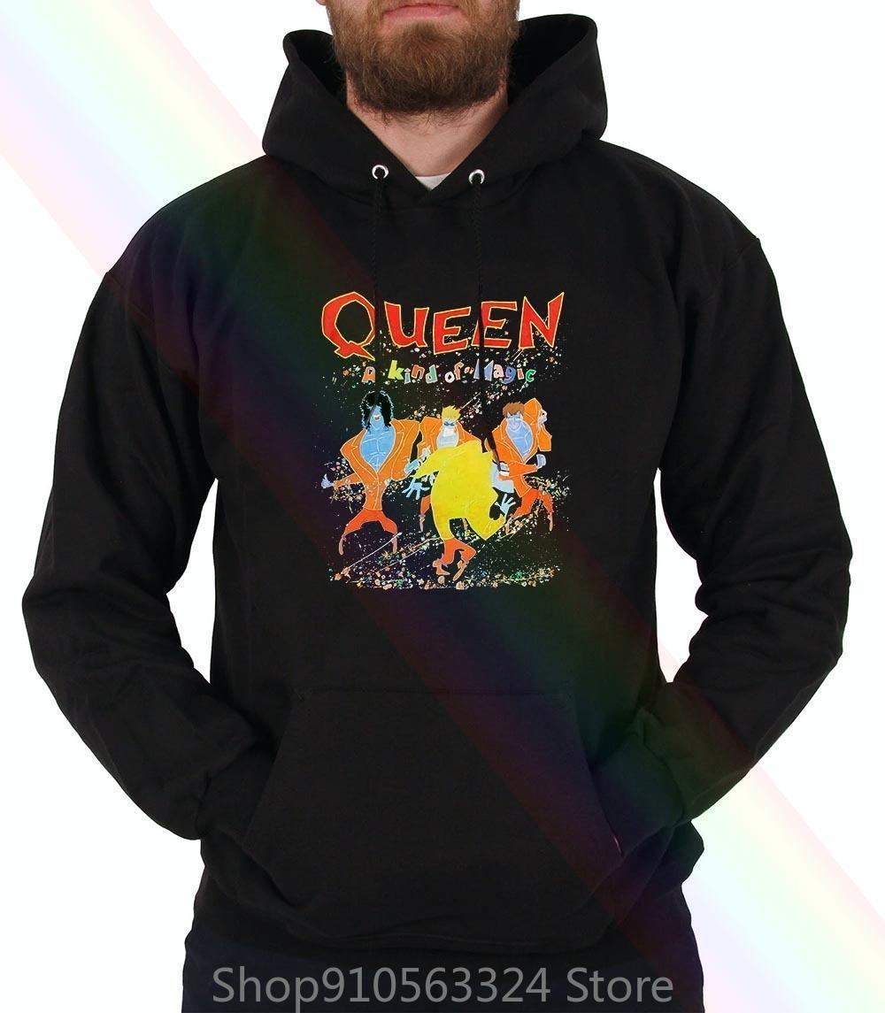 Queen Hoodie Sweatshirts Eine Art Magic 100 USA Import Freddie Mercury Frauen Menx1121