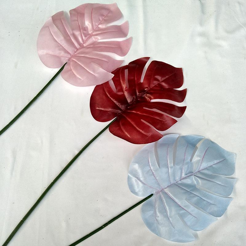 컬러 인공 팜 나뭇잎 플라스틱 몬스터 잎 장식 꽃 웨딩 도로에 대 한 장식 꽃 홈 장식에 대 한 인공 식물 155 N2
