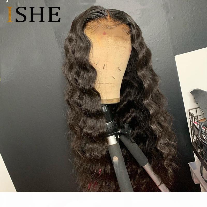 Şeffaf Dantel Peruk Derin Dalga Peruk 13x6 Kadınlar için Dantel Ön İnsan Saç Peruk Öncesi Pullu Saç Çizgisi Görünmez Knot 150