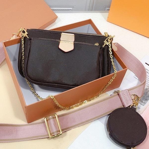 Alta Qualidade Bolsas de Ombro de Três Pedaços Top Design Chain Moda Saco Das Mulheres Casual 23 * 13 cm Mini Bolsa