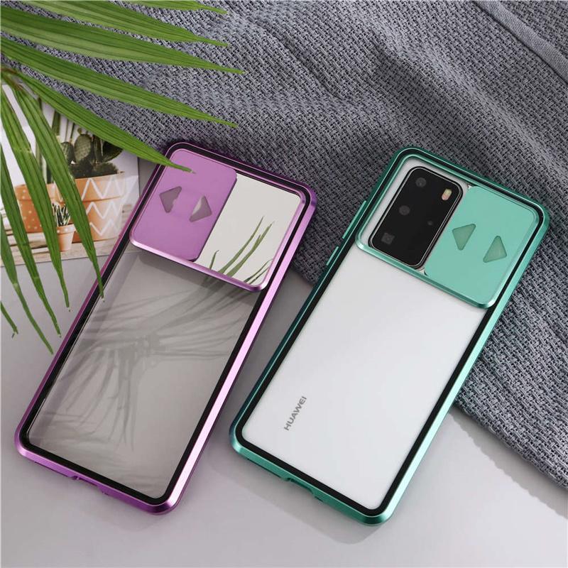 Telefonschutz-Shell-Push-Fenster-Gehäuse doppelseitige Abdeckung Transparente Shell für iPhone 11 Pro max XR x xs 6 7 8 plus