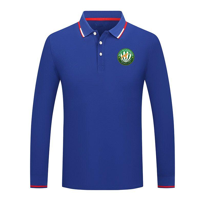 Bray Wanderers tombe vers la manches longues chemise à manches longues occasionnel Polo Chemise golf vêtements de sport chemise confortable polo