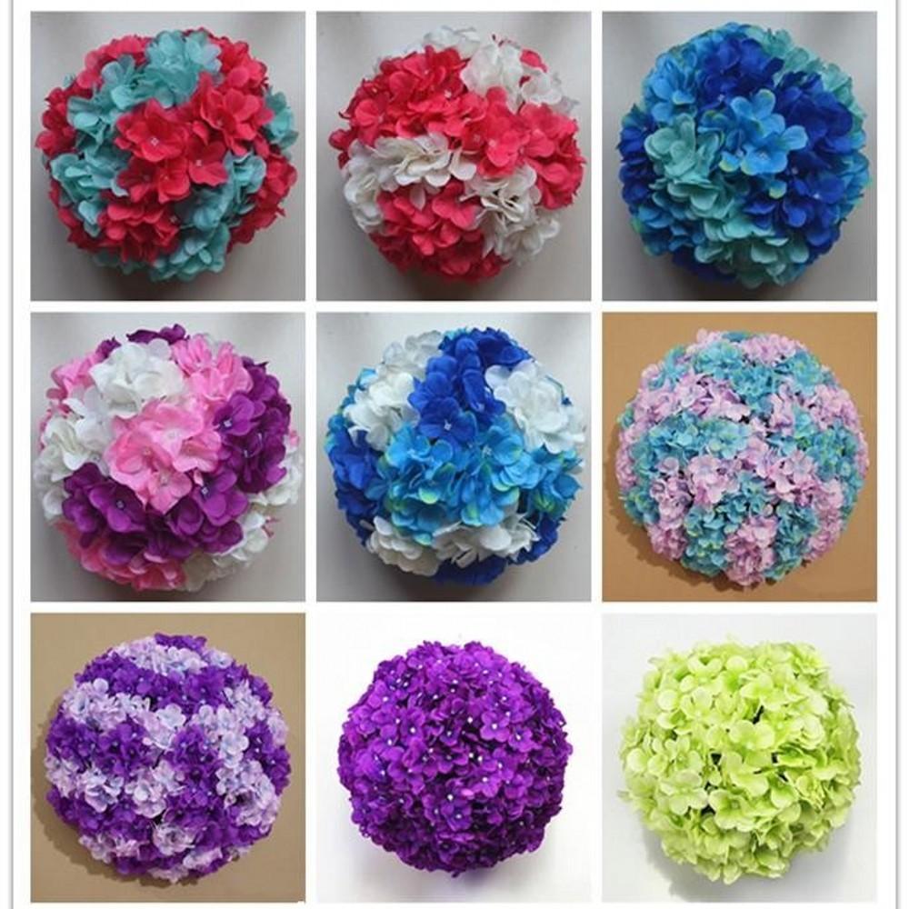 11-дюймовый искусственный гортензия цветок мяч подушки свадебные поцелуй мяч висит ремесел для рождественских украшений детские душевые украшения