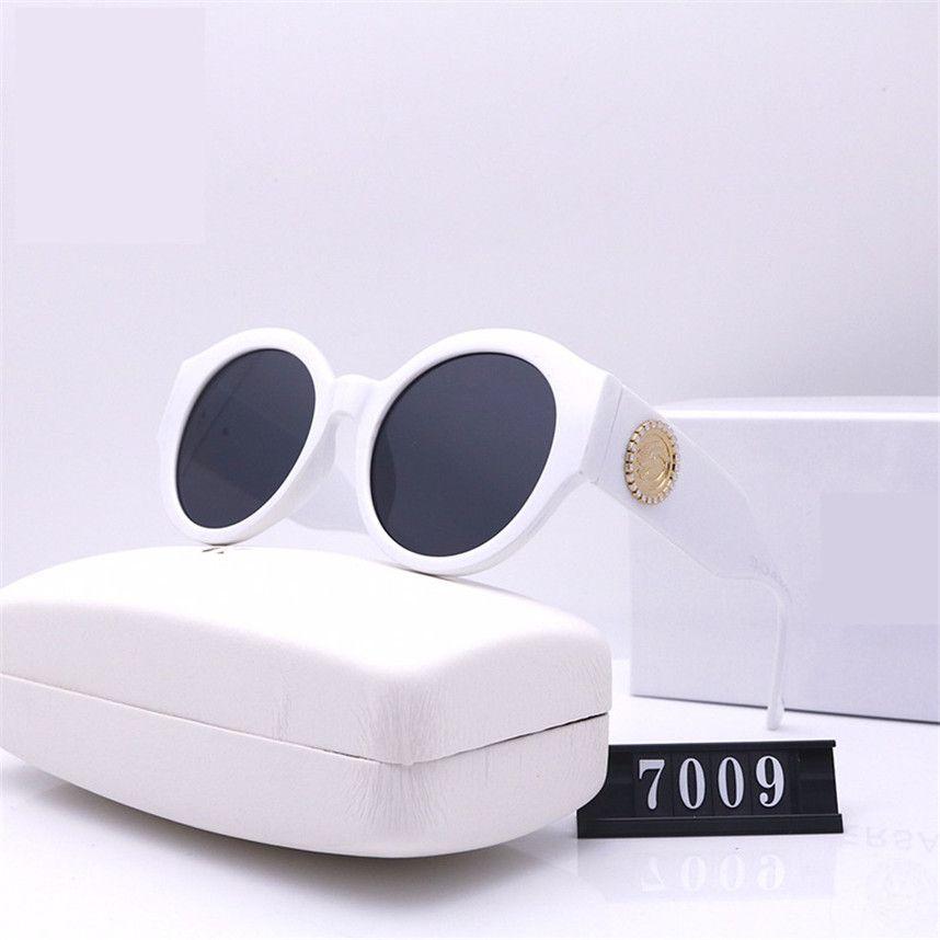 Óculos de sol de luxo topo desenhador de laser de encanto estilo óculos de estilo óculos de sol 7009 logotipo luxo mulher UV400 lente elegante e tatxp