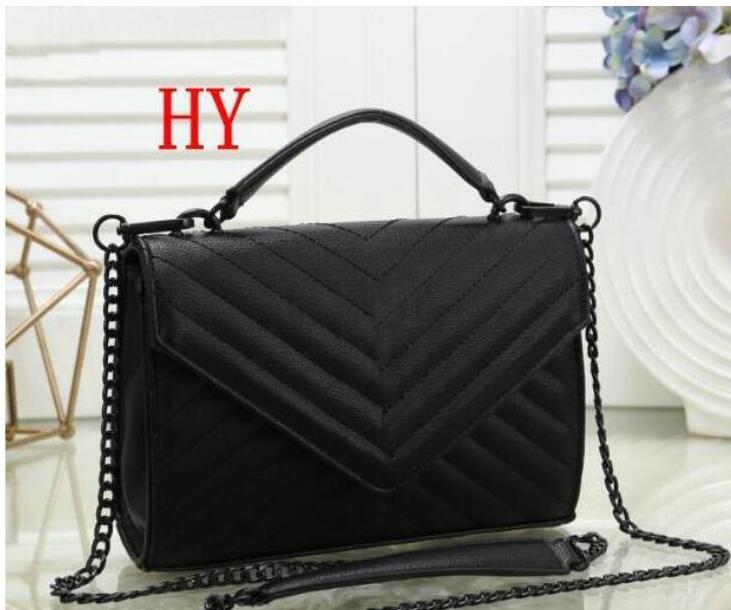 new Best price High Quality Fashion classics black chain shoulder bag Handbag women pu leather purse bag fashion backpacks xx7yt